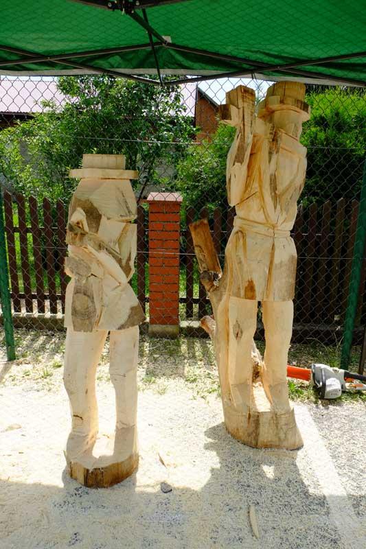 Krosno - Plener Rzeźbiarski Białobrzegi 2020 - Dzielnicowy Dom Ludowy