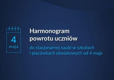 Harmonogram powrotu do szkół