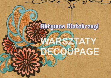 Zapisz się na warsztaty decoupage i haftu krzyżykowego